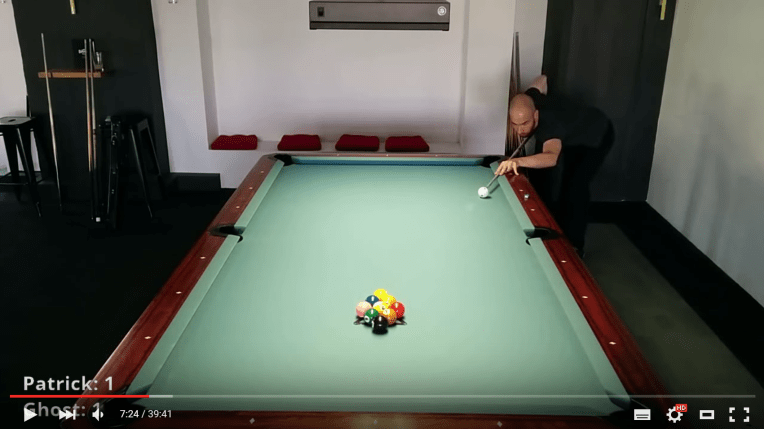 [Video] Let's play… pool! #2 – 9-ball against the ghost with english commentary